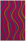 rug #901009 |  blue-green retro rug