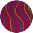 rug #901013   round blue-green abstract rug