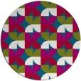 rug #901033 | round retro rug