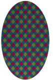 rug #901127   oval check rug