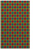 rug #901129    blue-green check rug