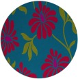 rug #901153   round blue-green natural rug