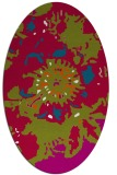 rug #901288 | oval graphic rug