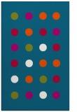 rug #901309 |  blue-green retro rug