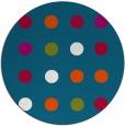 rug #901313 | round blue-green retro rug