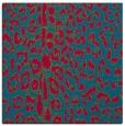 rug #901801 | square blue-green animal rug