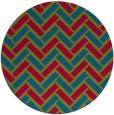 rug #901895 | round retro rug
