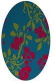 rug #901905 | oval blue-green natural rug