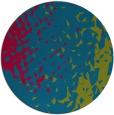 rug #902213 | round blue-green animal rug