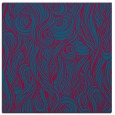 rug #902241 | square blue-green abstract rug