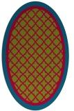 rug #902347 | oval borders rug