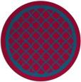 rug #902373 | round blue-green borders rug