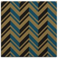 rug #902593 | square brown graphic rug