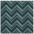 rug #902641 | square blue-green stripes rug