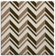 rug #902717 | square mid-brown stripes rug