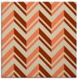 rug #902773 | square orange stripes rug