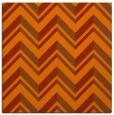 rug #902829 | square red-orange graphic rug