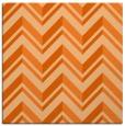 rug #902833 | square red-orange stripes rug