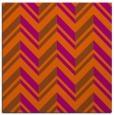 rug #902837 | square red-orange stripes rug