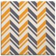 rug #902921 | square light-orange graphic rug