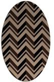 rug #902937 | oval black graphic rug