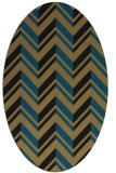 rug #902953 | oval brown stripes rug