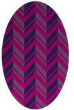 rug #902961 | oval pink rug