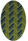rug #902969 | oval blue rug