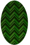 rug #902987 | oval stripes rug
