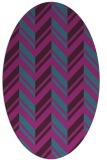rug #903011 | oval stripes rug