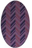 rug #903025 | oval purple graphic rug