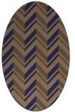 rug #903033 | oval blue-violet stripes rug