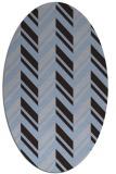 rug #903037 | oval blue-violet graphic rug