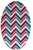 rug #903045 | oval red graphic rug