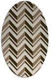 rug #903077 | oval stripes rug