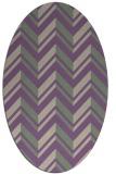 rug #903109 | oval purple stripes rug