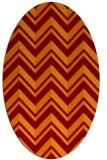 rug #903125 | oval red-orange rug