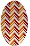 rug #903129 | oval orange stripes rug