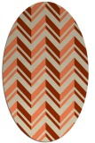 rug #903133 | oval orange graphic rug