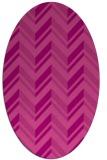 rug #903141 | oval pink graphic rug