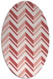 rug #903153 | oval white stripes rug