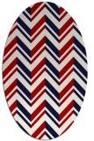 rug #903173 | oval red stripes rug
