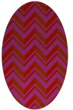 rug #903185 | oval red stripes rug