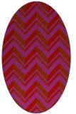 rug #903185 | oval red popular rug