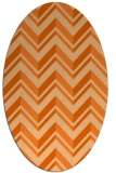 rug #903193 | oval red-orange stripes rug