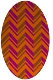 rug #903197 | oval red-orange stripes rug