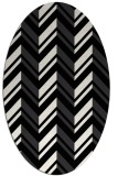 rug #903205 | oval white graphic rug