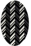 rug #903205 | oval black rug