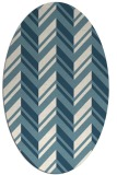 rug #903221 | oval white graphic rug