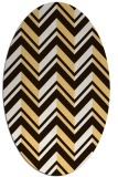 rug #903237 | oval brown graphic rug